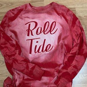 Bleached Alabama Roll tide long sleeve shirt